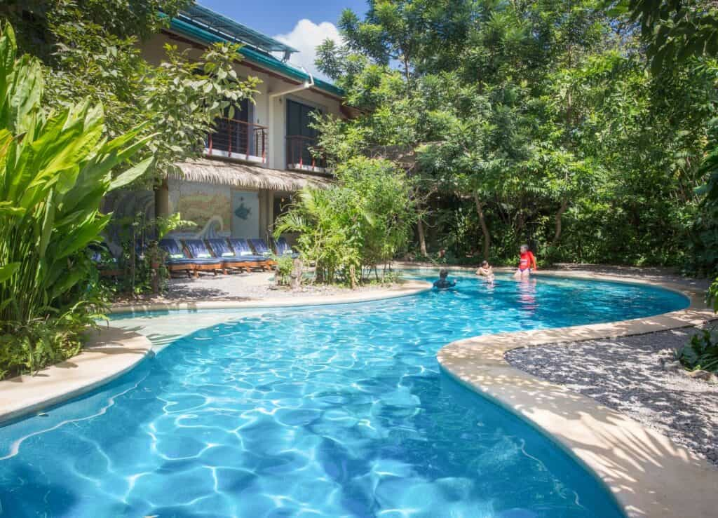 Pool at Olas Verdes Hotel in Nosara