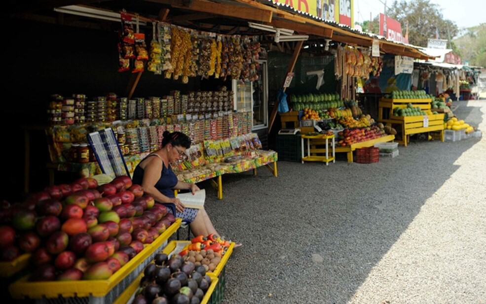 Fruit stand along the road