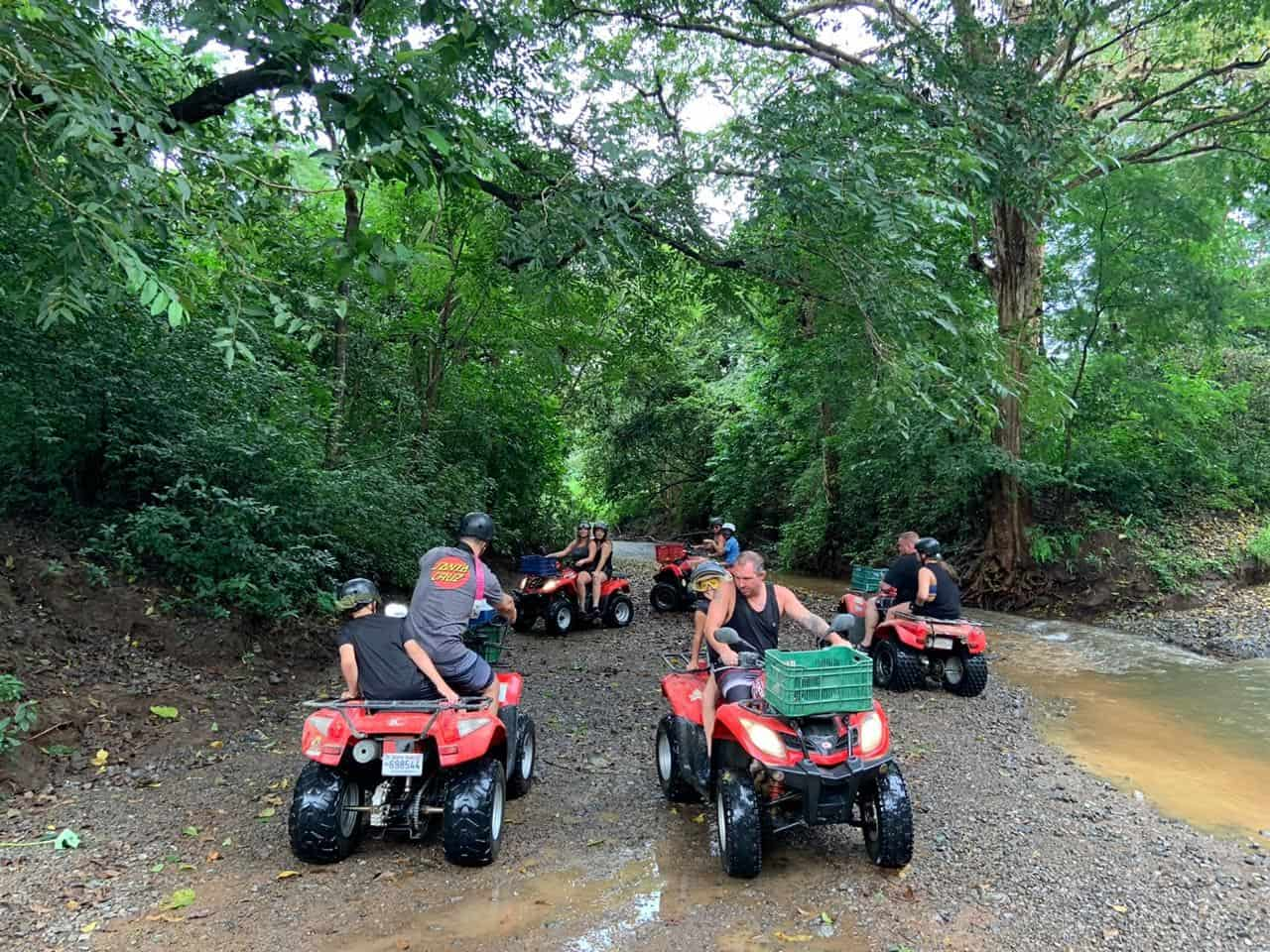 ATVs by the river