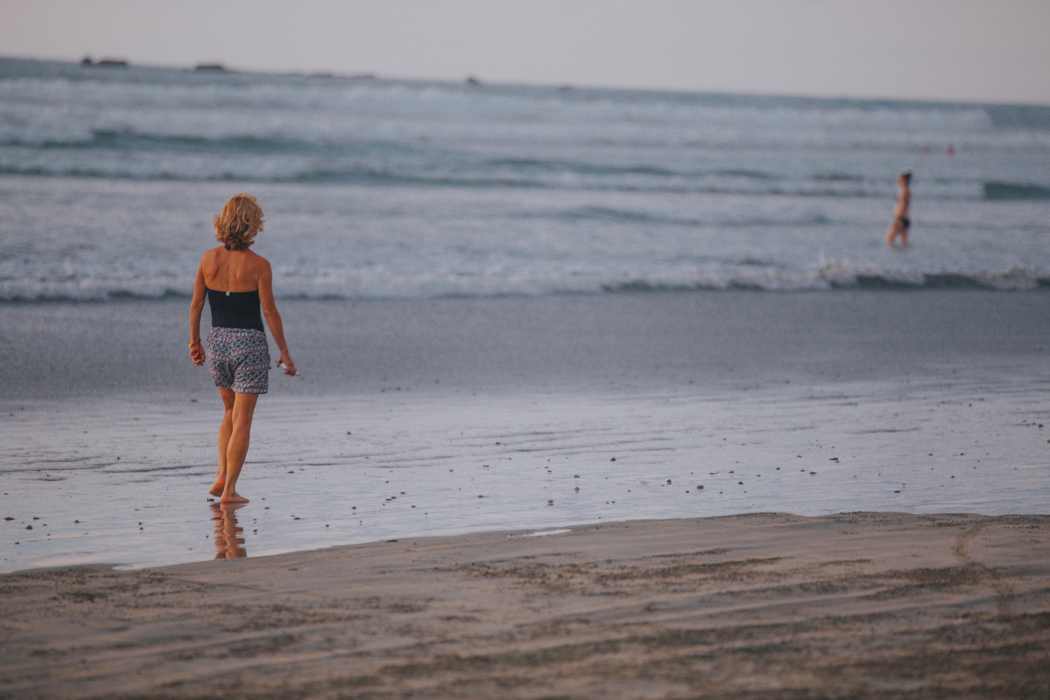 Walking the beach of Nosara